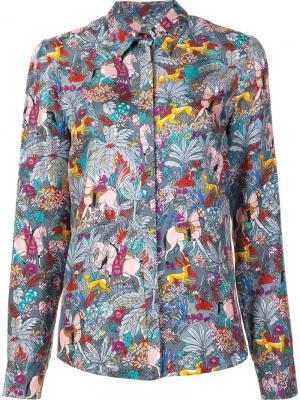 Horse print shirt Gabriela Hearst. Цвет: многоцветный