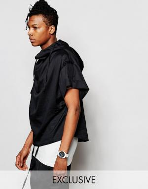 Unplugged Museum Рубашка с капюшоном и короткими рукавами. Цвет: черный
