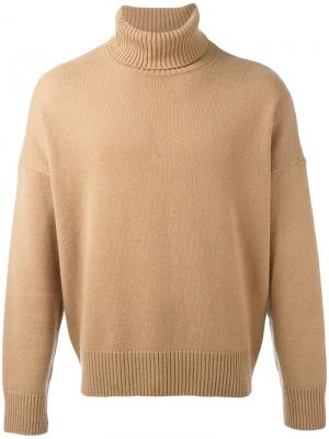Свободный свитер-водолазка Ami Alexandre Mattiussi. Цвет: телесный