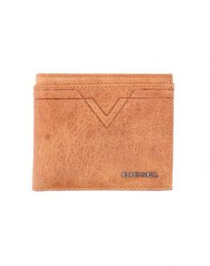 Бумажник DIESEL. Цвет: желто-коричневый