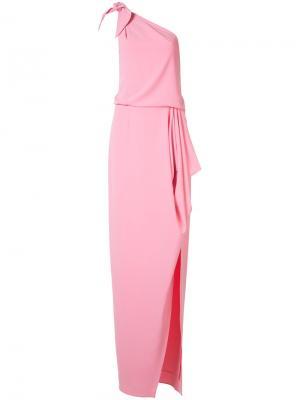 Платье на одно плечо Halston Heritage. Цвет: розовый и фиолетовый