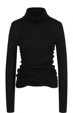 Шерстяной свитер с драпировкой Yohji Yamamoto. Цвет: черный