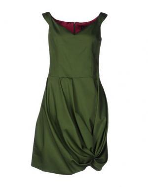 Короткое платье IVAN MONTESI. Цвет: зеленый-милитари