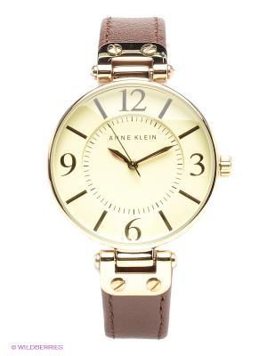 Часы ANNE KLEIN. Цвет: коричневый, золотистый