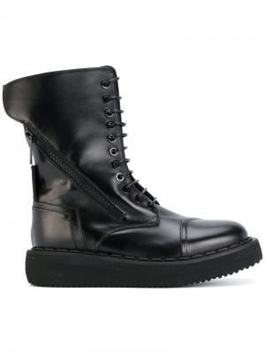 High lace up boots Bruno Bordese. Цвет: чёрный
