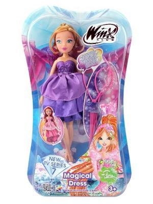 Кукла Winx Club Волшебное платье, Flora. Цвет: фиолетовый