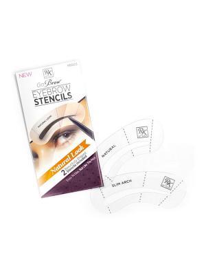 Kiss Набор трафаретов для бровей Natural Look Eyebrow Stencils Go Brow RBS03. Цвет: прозрачный