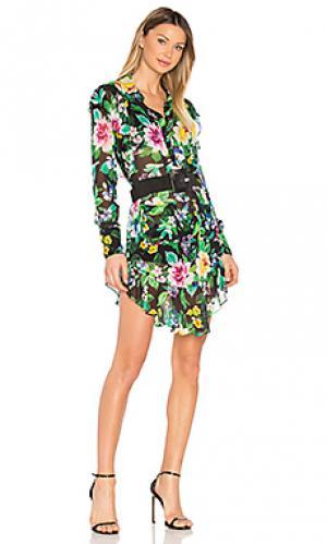 Платье с принтом shelton Marissa Webb. Цвет: черный