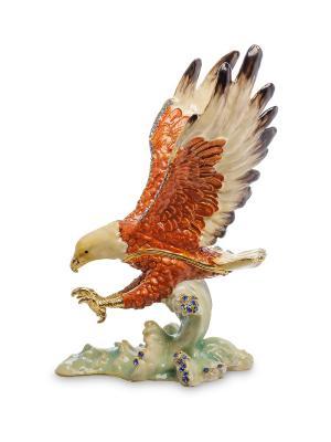 Шкатулка Орел Art East. Цвет: коричневый
