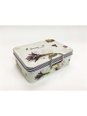 Коробка для безделушек и мелочей Лавандовое  из черного окрашенного металла, 12,5х9х4см. Magic Home. Цвет: серый