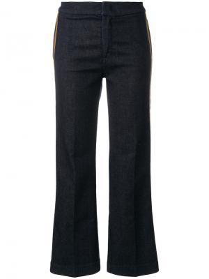 Укороченные брюки с полосками The Seafarer. Цвет: синий