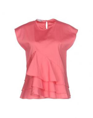 Блузка BIANCOGHIACCIO. Цвет: коралловый