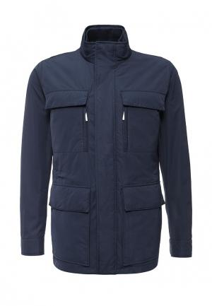 Куртка утепленная Boss. Цвет: синий