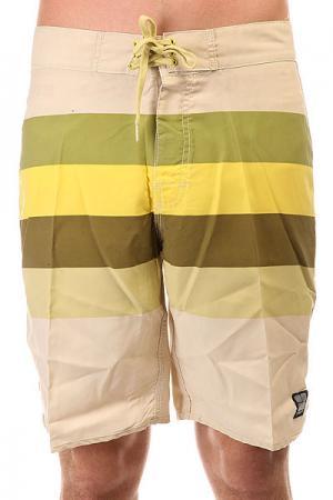 Шорты пляжные  Retro Stud Regular Dirty Sun Insight. Цвет: бежевый,желтый,зеленый