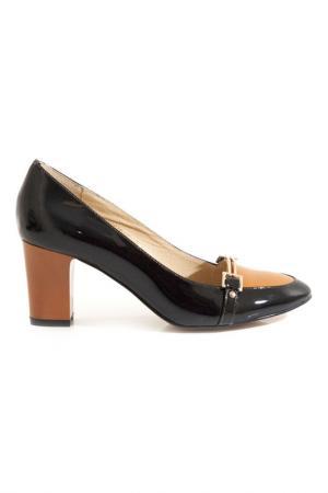 Туфли LEFOLLIE. Цвет: черный, оранжевый
