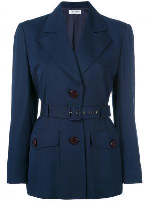 Однобортный пиджак Guy Laroche Vintage. Цвет: синий