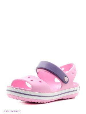Сандалии CROCS. Цвет: розовый, белый, синий