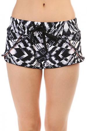 Шорты пляжные женские  Mirage Chakra 2 Revo Boardwalk Peach Rip Curl. Цвет: черный,белый