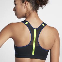 Спортивное бра с высокой поддержкой  Motion Adapt Nike. Цвет: синий
