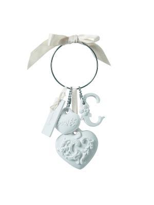 Кольцо с брелоками гипсовыми ароматическими - 7х22х2,7см Прелесть, аромат Лунный свет Mathilde M. Цвет: белый