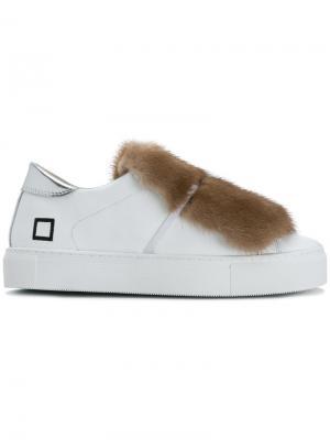 Кроссовки с бахромой D.A.T.E.. Цвет: белый
