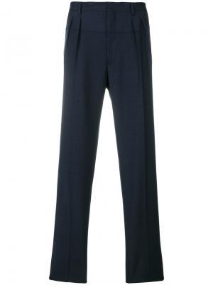 Классические брюки с плиссировкой Gabriele Pasini. Цвет: синий