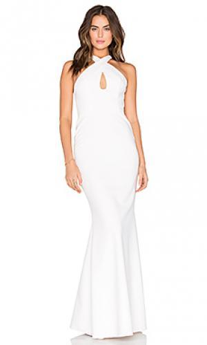 Вечернее платье с вырезом-капля JILL STUART. Цвет: белый