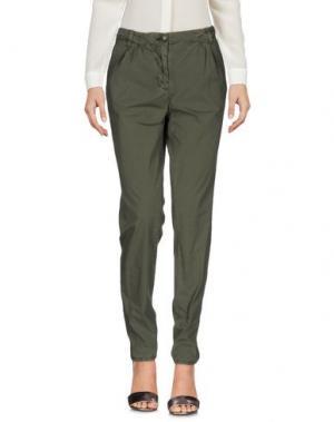 Повседневные брюки BLAUER. Цвет: зеленый-милитари