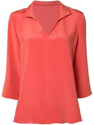 Шелковая блузка Peter Cohen. Цвет: жёлтый и оранжевый