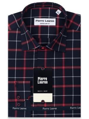 Рубашка Pierre Lauren. Цвет: темно-синий, красный