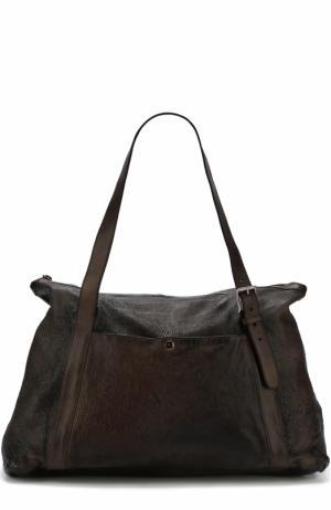Кожаная сумка-шоппер Numero 10. Цвет: темно-коричневый