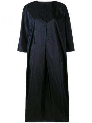 Платье-рубашка с круглым вырезом Daniela Gregis. Цвет: синий