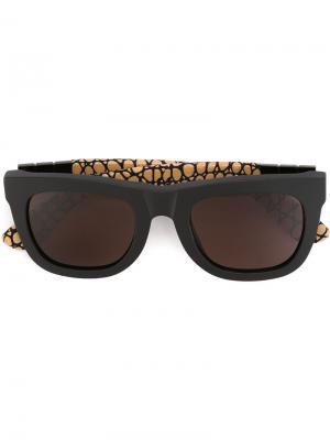 Солнцезащитные очки Ciccio Gianni Pompei Retrosuperfuture. Цвет: чёрный