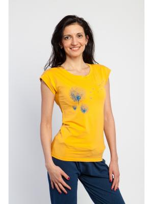 Футболка женская Quiet Flight yogadress. Цвет: желтый