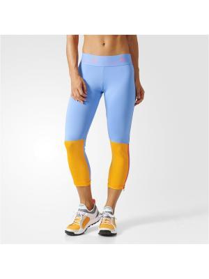 Капри жен. 3/4 TIGHT Adidas. Цвет: голубой, оранжевый