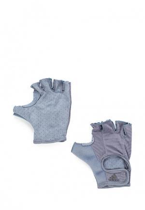 Перчатки для фитнеса adidas. Цвет: синий
