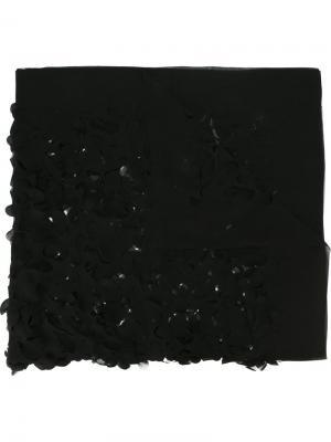 Шарф с резным узором Maria Calderara. Цвет: чёрный