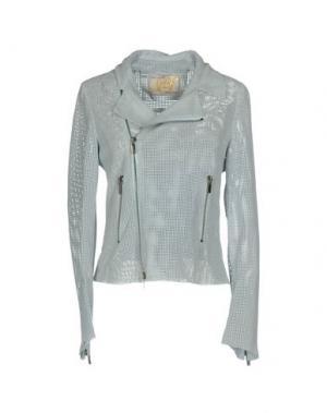 Куртка VINTAGE DE LUXE. Цвет: небесно-голубой