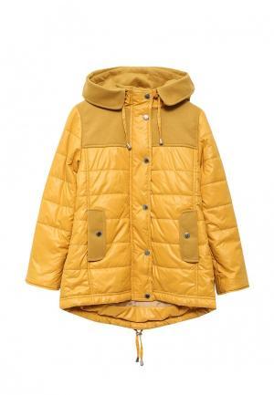 Куртка утепленная Saima. Цвет: желтый
