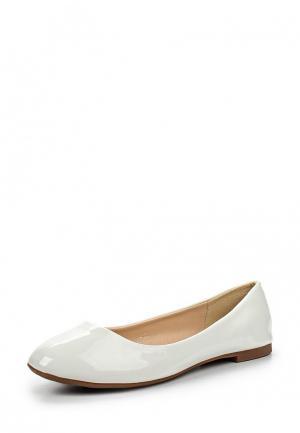 Балетки Style Shoes. Цвет: белый