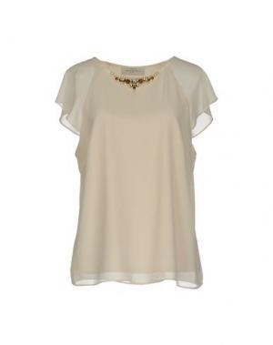 Блузка CORTE DEI GONZAGA. Цвет: бежевый
