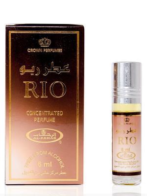 Арабские масляные духи Рио (Rio), 6 мл Al Rehab. Цвет: терракотовый, темно-бежевый