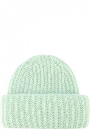 Вязаная шапка с отворотом Tak.Ori. Цвет: зеленый