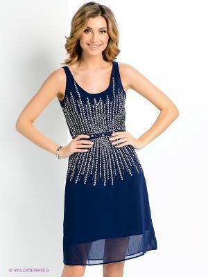Платье ZARINA. Цвет: темно-синий