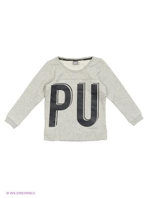 Толстовка Style Crew Sweat FL Puma. Цвет: серый