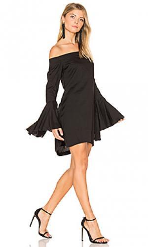 Платье с открытыми плечами bronte MLM Label. Цвет: черный