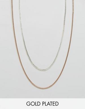 Pilgrim Ожерелье в два ряда. Цвет: золотой