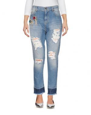 Джинсовые брюки MARCO BOLOGNA. Цвет: синий