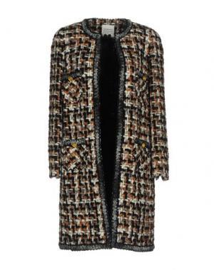 Пальто EDWARD ACHOUR. Цвет: коричневый