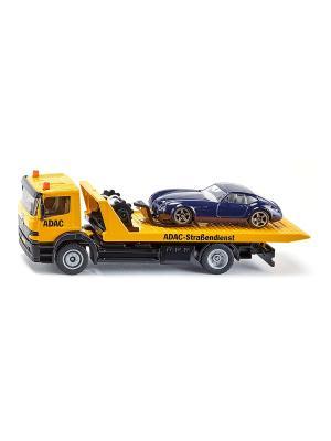 Набор с эвакуатором и спортивной машиной SIKU. Цвет: черный, белый, желтый